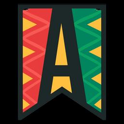 Kwanzaa banner letras a