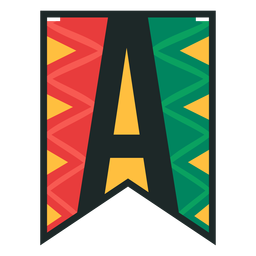 Kwanzaa banner letters a