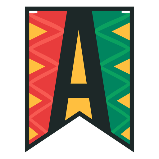 Kwanzaa banner letras a Transparent PNG