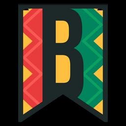 Kwanzaa banner letras b