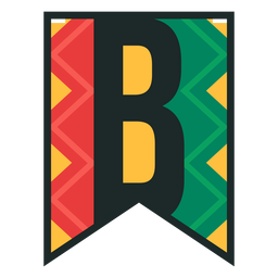 Kwanzaa banner letters b