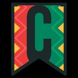 Kwanzaa banner letters c