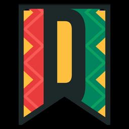 Kwanzaa banner letters d