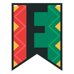 Kwanzaa banner letters e