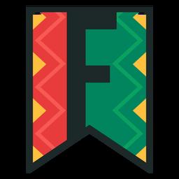 Kwanzaa banner letters f