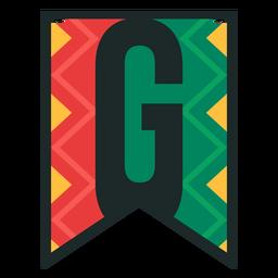 Kwanzaa banner letters g