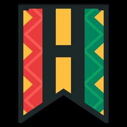 Kwanzaa banner letters h