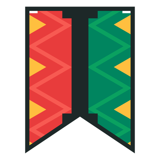 Kwanzaa banner letras i Transparent PNG