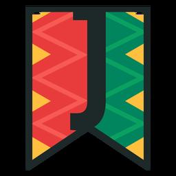 Kwanzaa banner letters j