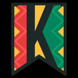 Kwanzaa banner letters k