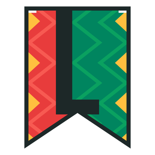 Kwanzaa banner letras l Transparent PNG
