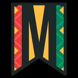 Kwanzaa banner letters m