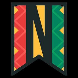Kwanzaa banner letras n