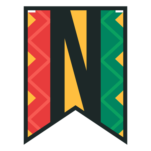 Kwanzaa banner letras n Transparent PNG