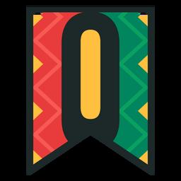 Kwanzaa banner letters o