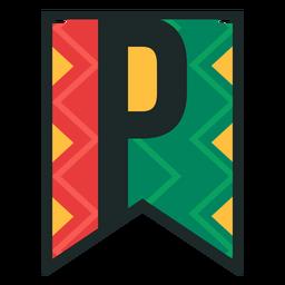 Kwanzaa banner letras p