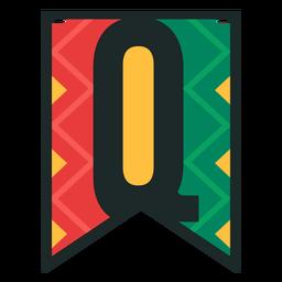 Kwanzaa banner letras q
