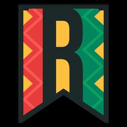 Kwanzaa banner letras r