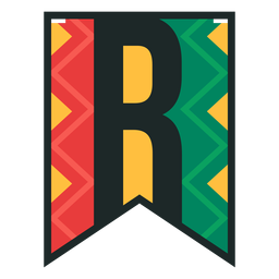Kwanzaa banner letters r