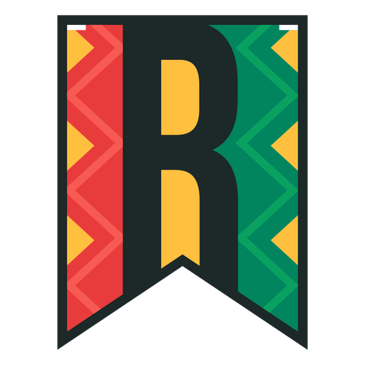 Kwanzaa banner letras r Transparent PNG
