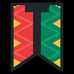 Kwanzaa banner letras t