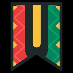 Kwanzaa banner letters u