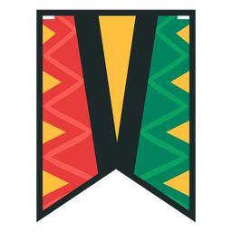 Kwanzaa banner letras v
