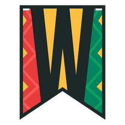 Kwanzaa banner letters w