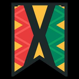 Kwanzaa banner letras x