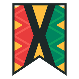Kwanzaa banner letters x