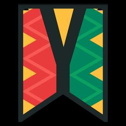 Kwanzaa banner letters y