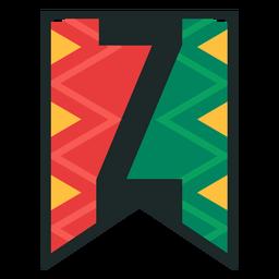 Kwanzaa banner letters z