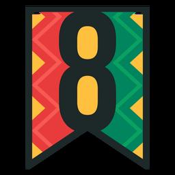 Kwanzaa banner números ocho