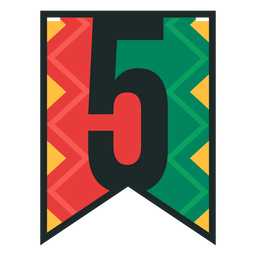 Kwanzaa banner numbers five