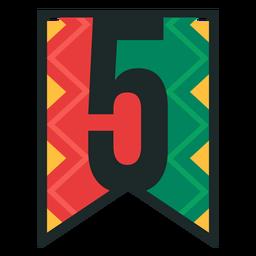 Kwanzaa banner números cinco