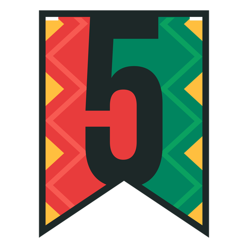 Kwanzaa banner numbers five Transparent PNG