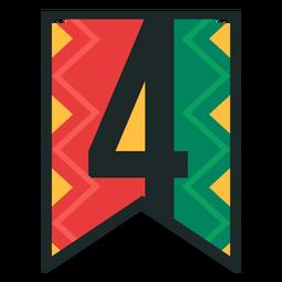 Banner de Kwanzaa números cuatro