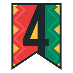 Kwanzaa banner números cuatro