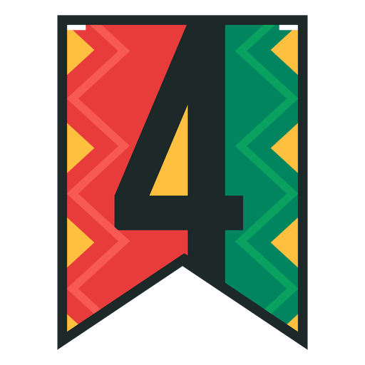 Kwanzaa banner numbers four Transparent PNG