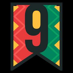 Kwanzaa banner numbers nine