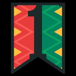 Banner de Kwanzaa números uno