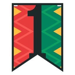 Kwanzaa banner numbers one
