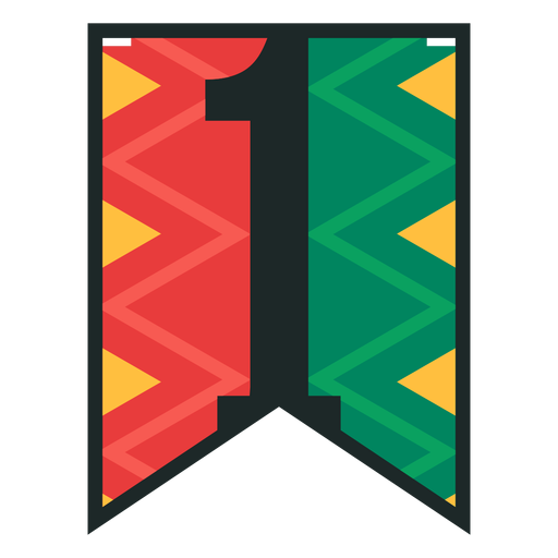 Kwanzaa banner numbers one Transparent PNG