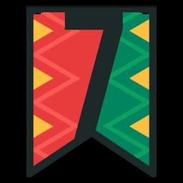 Kwanzaa banner números siete