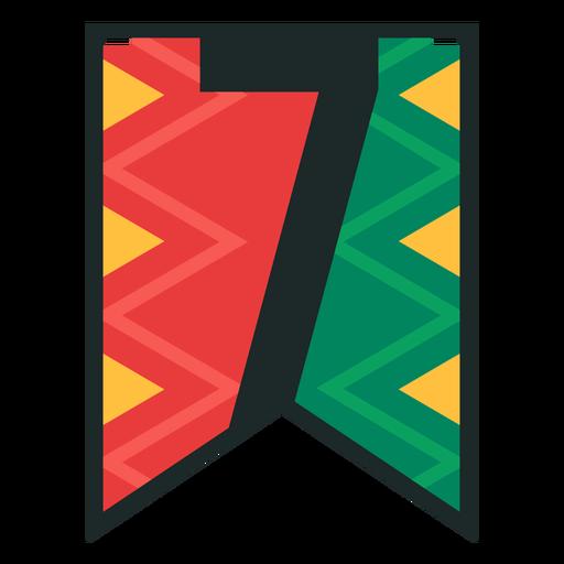 Kwanzaa banner números siete Transparent PNG