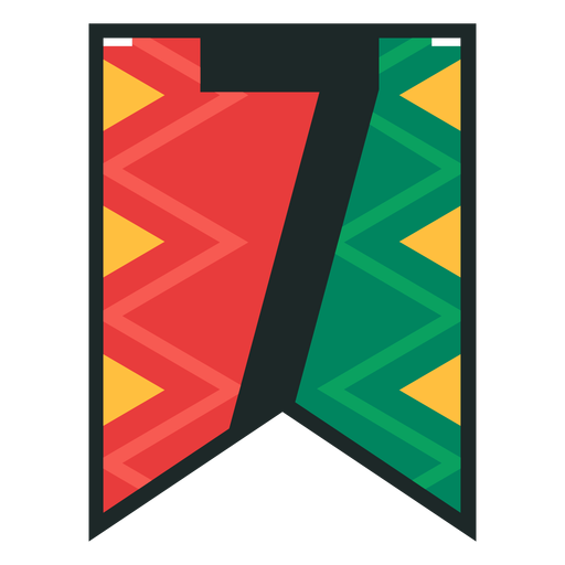 Kwanzaa banner numbers seven Transparent PNG