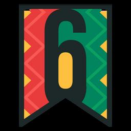 Kwanzaa banner numbers six