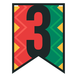 Kwanzaa banner numbers three