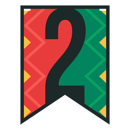 Kwanzaa banner numbers two