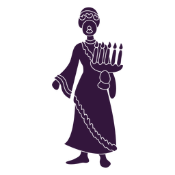 Kwanzaa velas personaje de mujer
